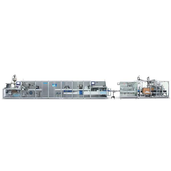 药品泡罩装盒包装智能生产线成套系统(全伺服)