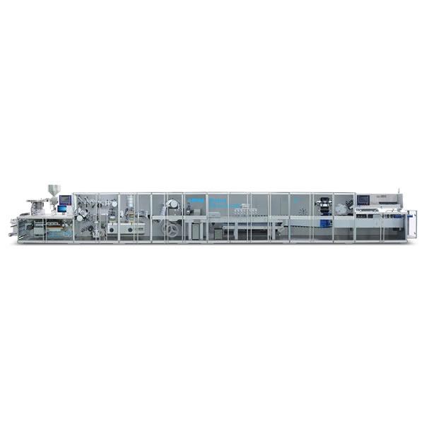 高速泡罩包装及自动装盒联动生产线(铝塑铝全伺服)